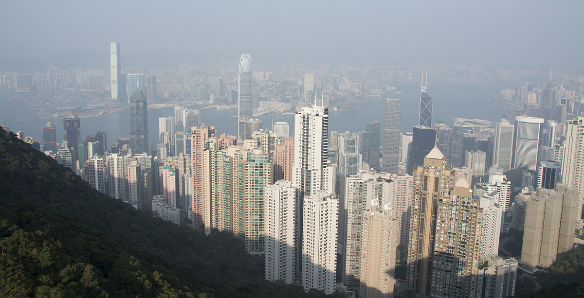 Hong Kong from The Peak before Photoshop.