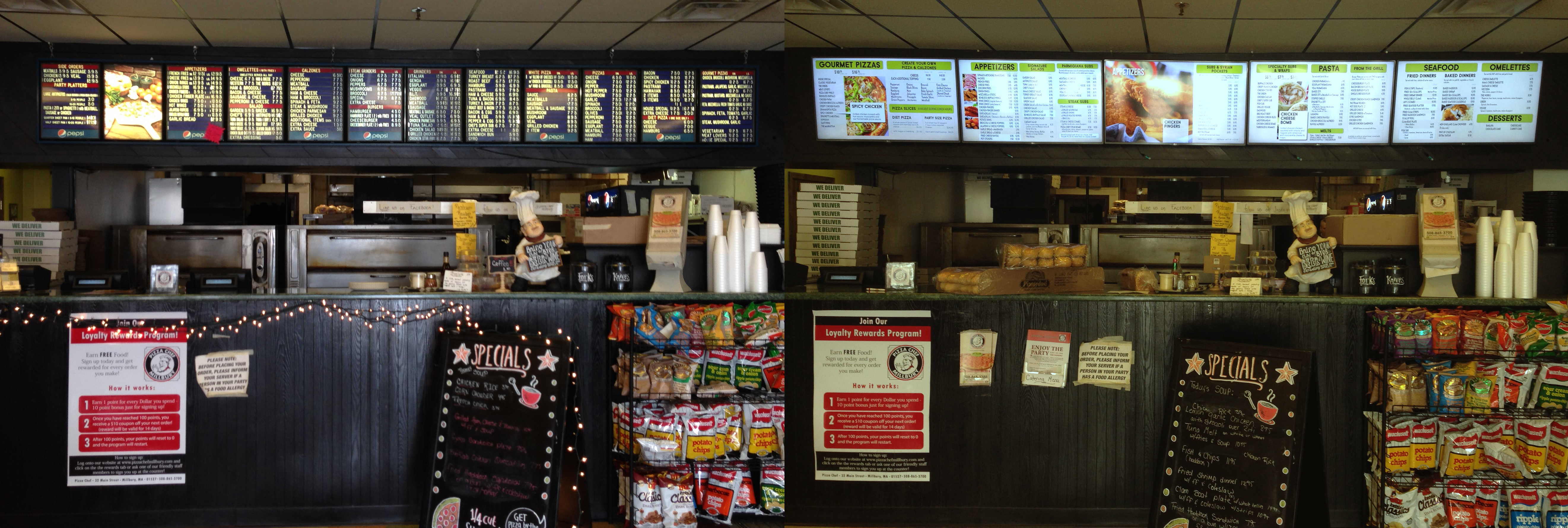 Comparison of original and Digital Menu Boards.