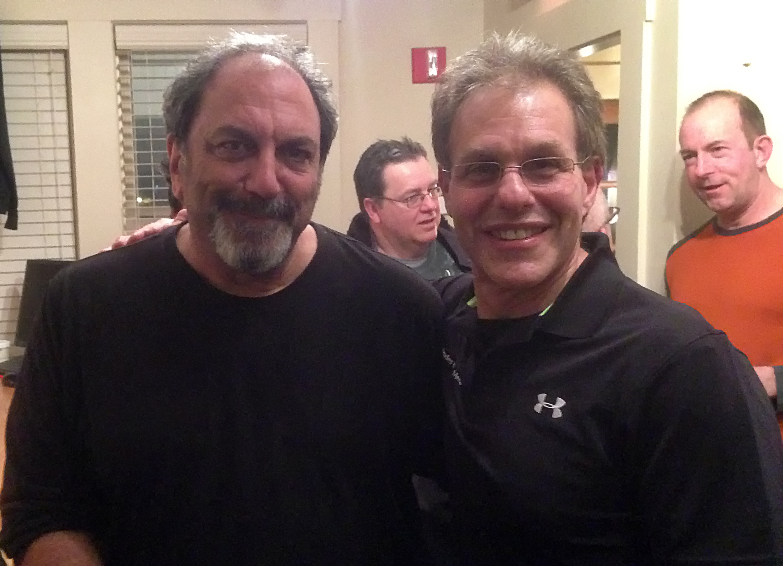 Elliot Gould of Render Edge Media with Jerry Marotta of the Security Project.