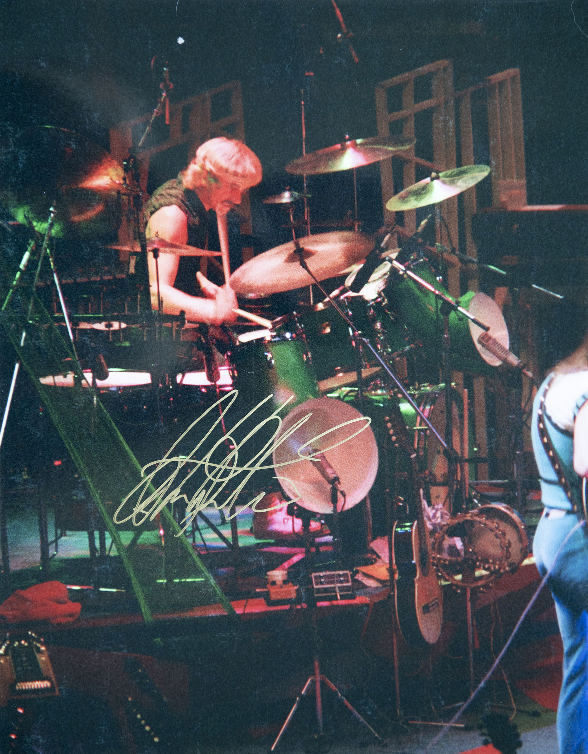Alan White, Drummber of Yes at Madison Square Garden, August 7, 1977