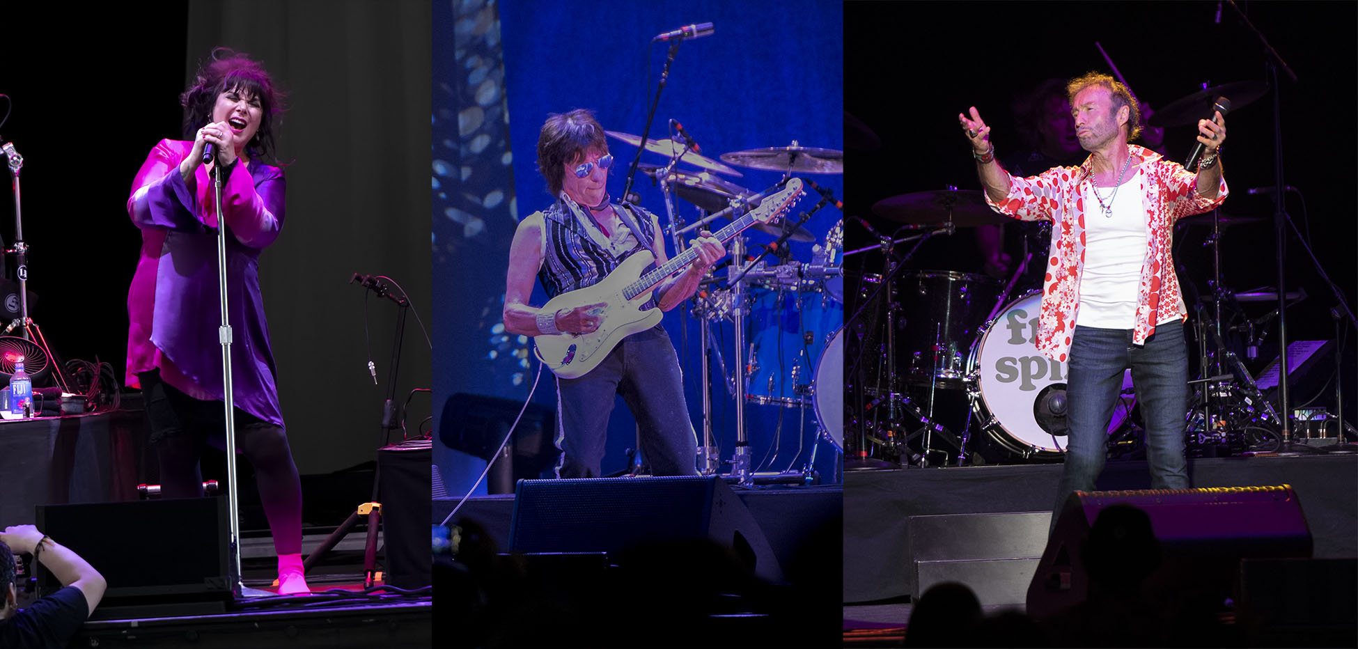 Ann Wilson, Jeff Beck and Paul Rodgers at the Blue Hills Bank Pavillion, Boston, MA August 3, 2018