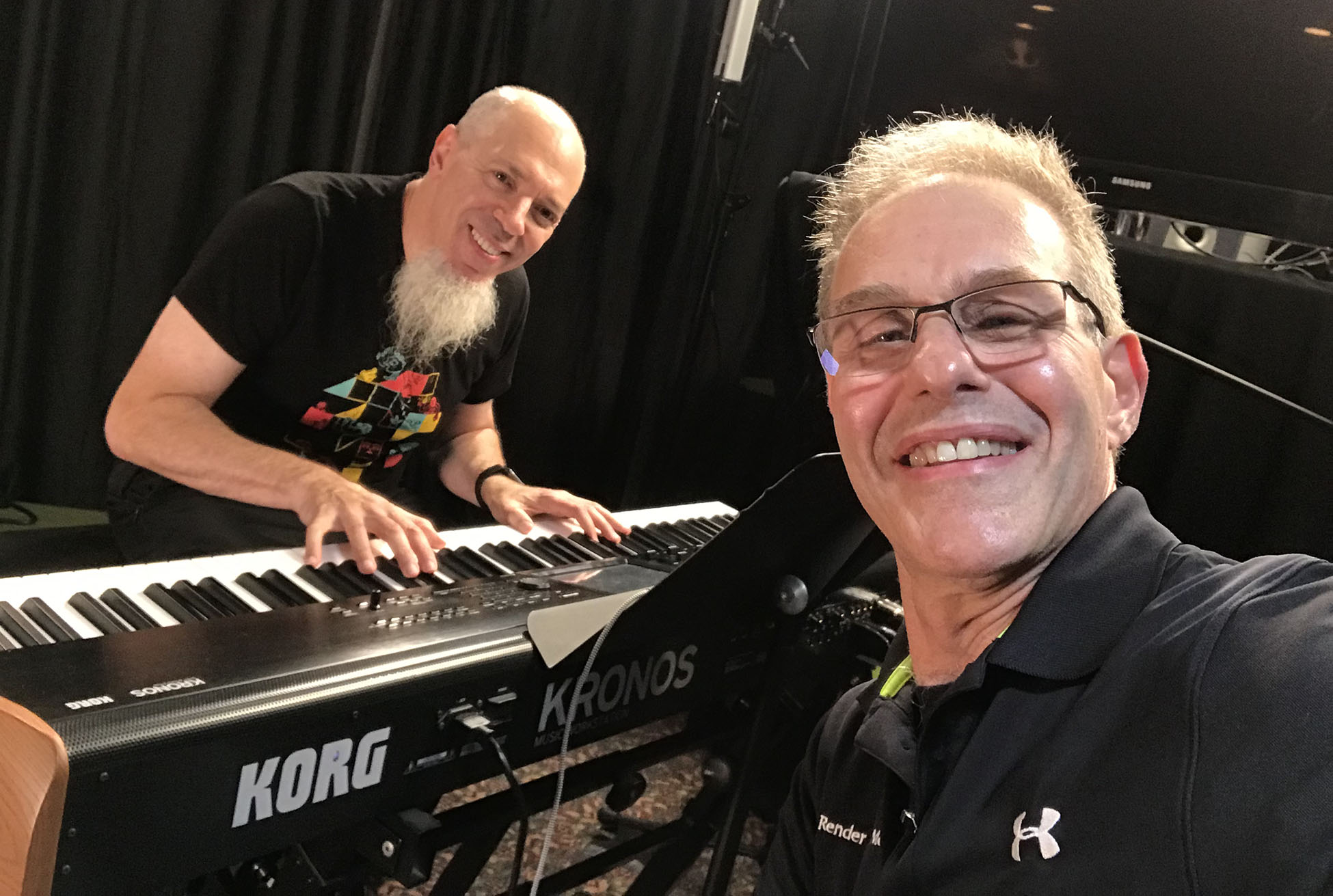 Jordan Rudess and Elliot Gould at the LoFaro Center of the Performing Arts, August 17, 2019