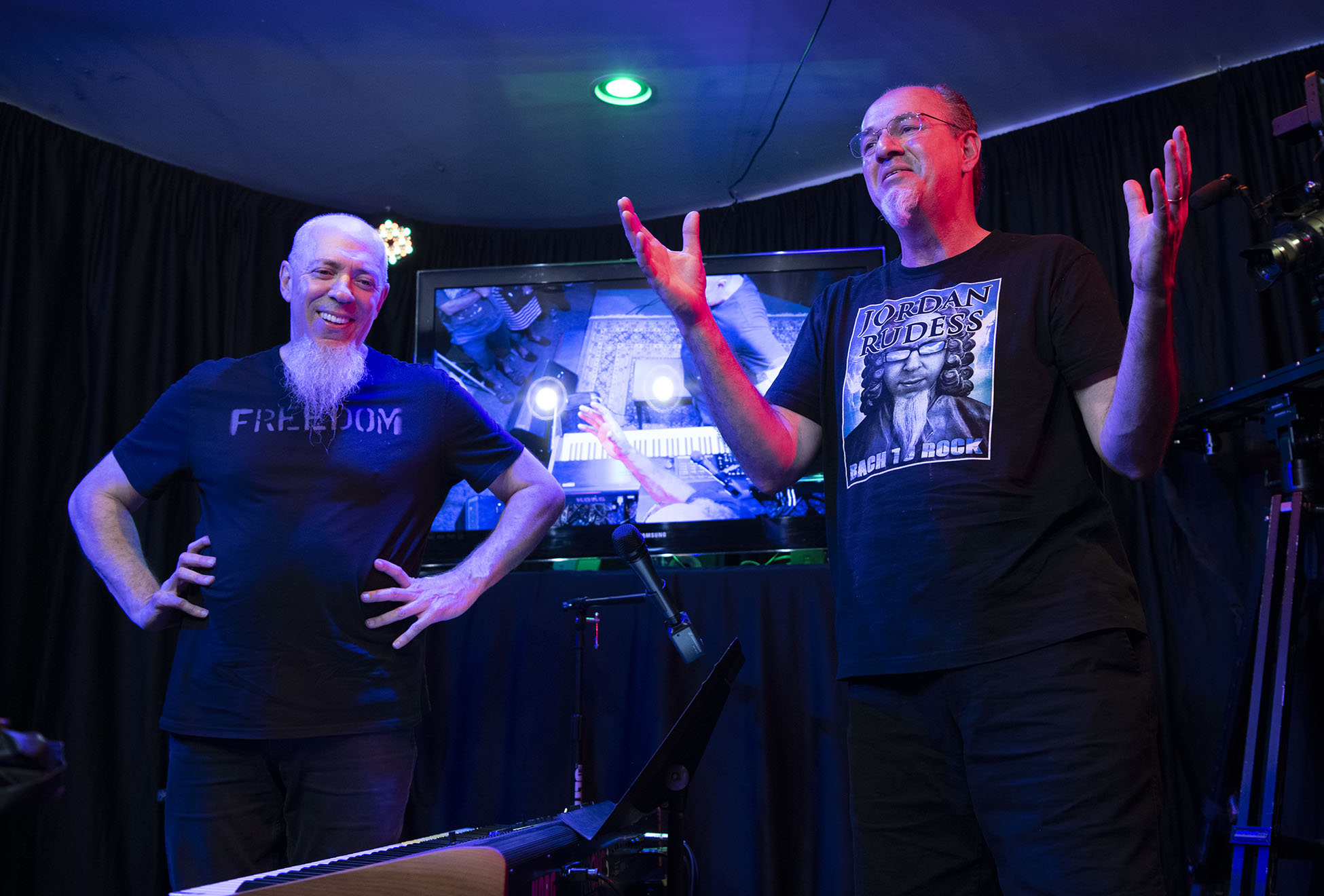 Jordan Rudess and Jerry LoFaro at the LoFaro Center of the Performing Arts, August 17, 2019