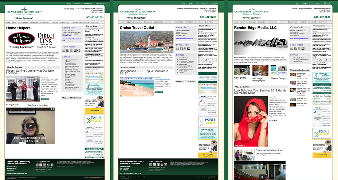 Member pages from the Greater Derry Londonderry Chamber of Commerce Website