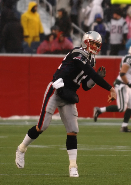 Tom Brady, quarterback of the New England Patriot against the New York Jets, 2007.