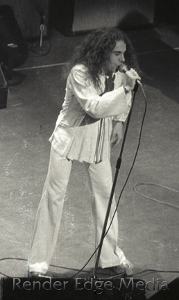 Ronnie James Dio of Ritchie Blackmore's Rainbow at the Beacon Theater December 1975.