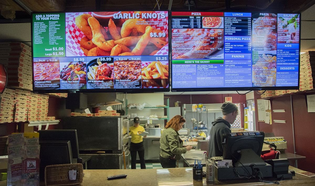 New Digital Menu Boards installed in Restaurant.