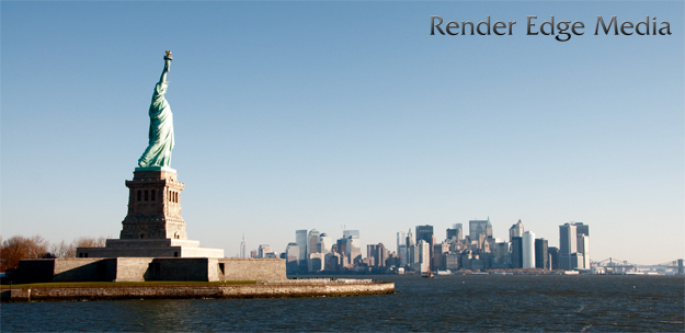 Statue of Liberty and NY City Skyline.