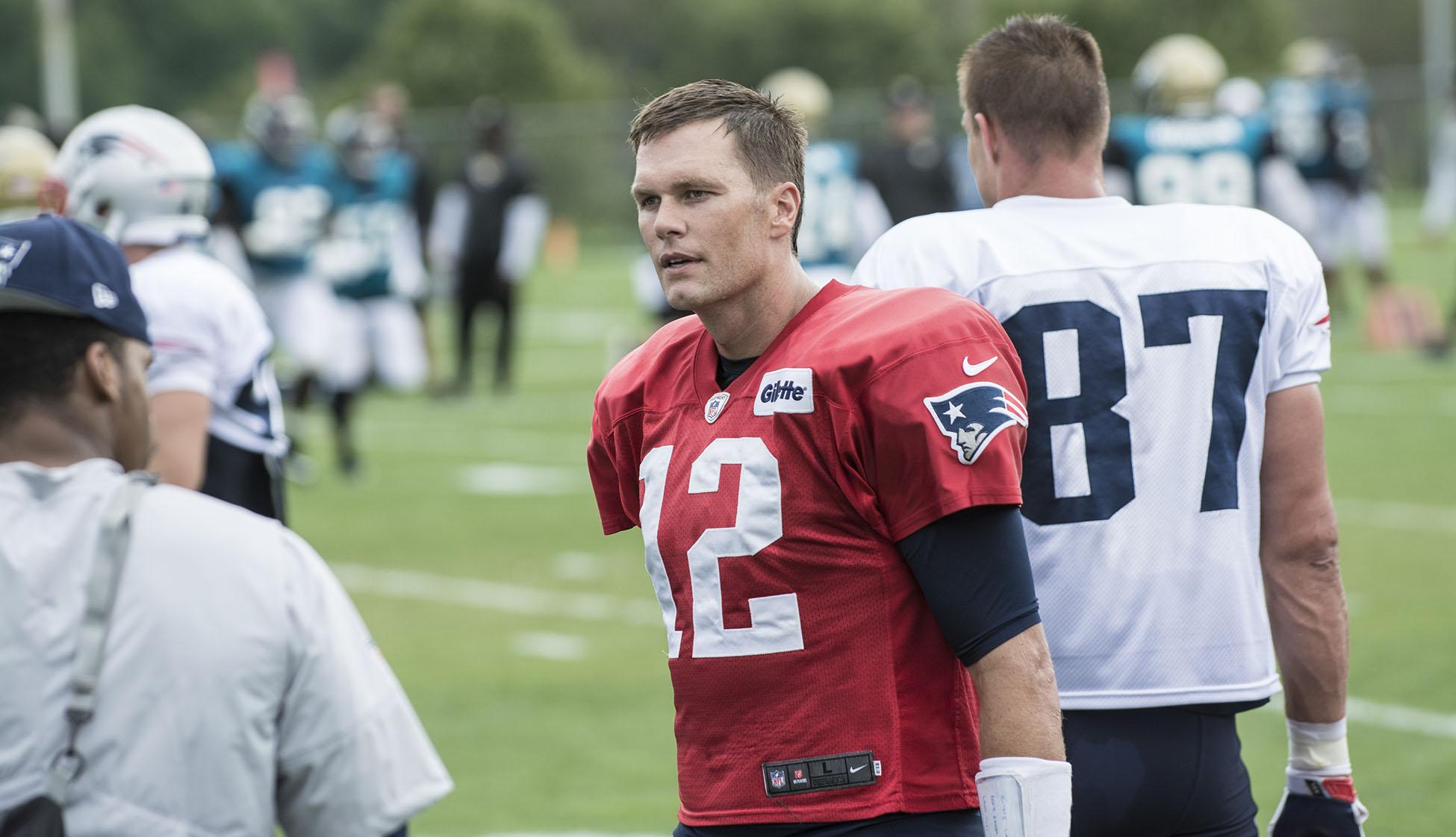 Tom Brady Patriots training camp, August 7, 2017