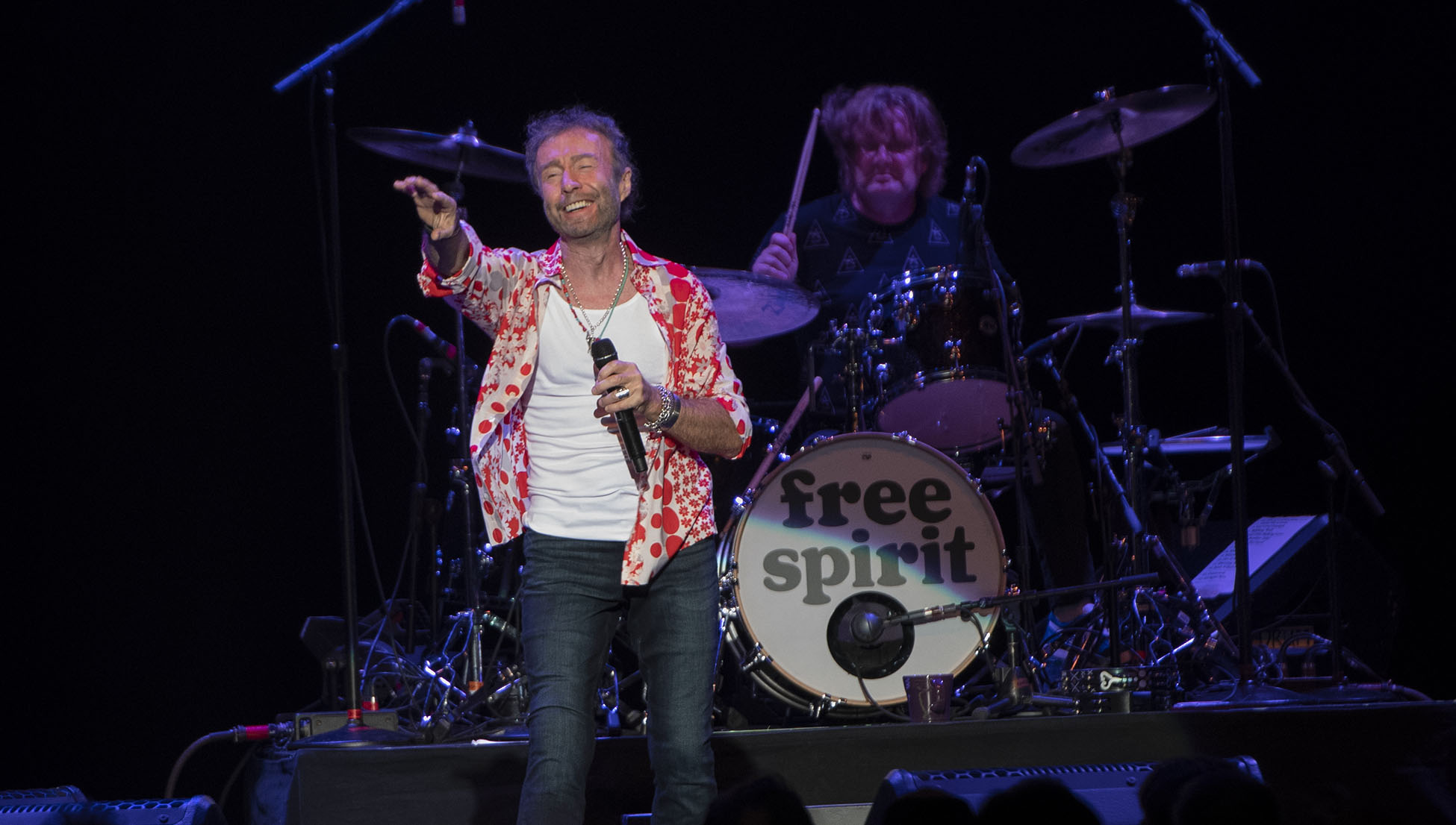 Paul Rogers at the Blue Hills Bank Pavillion, Boston, MA August 3, 2018