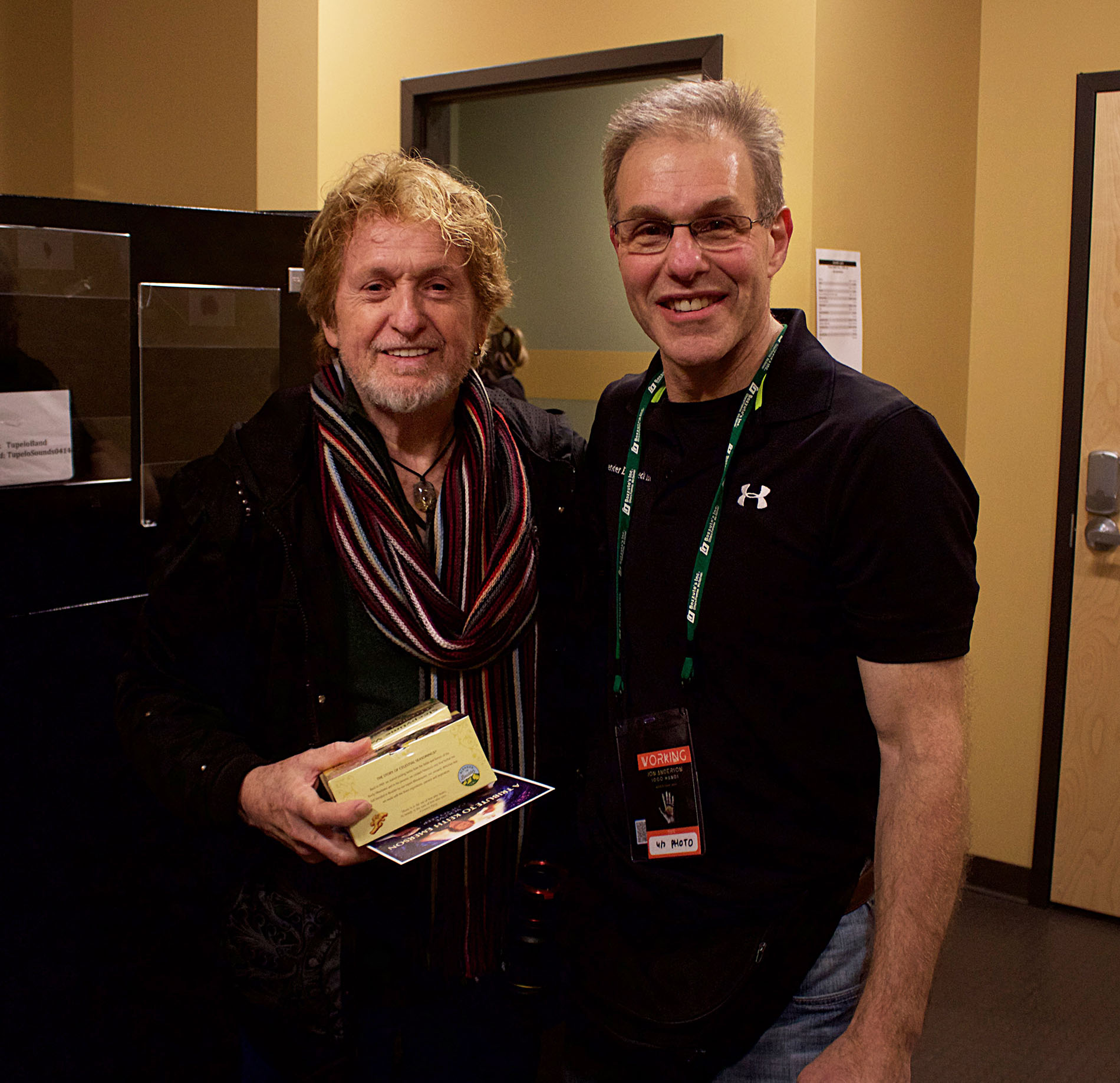 Jon Anderson and Elliot Gould at the Tupelo Music Hall, April 7, 2019