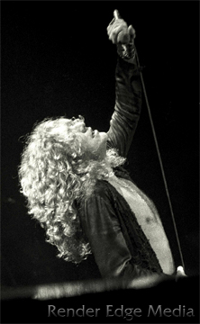 Robert Plant of Led Zeppelin at Madison Square Garden June 1977